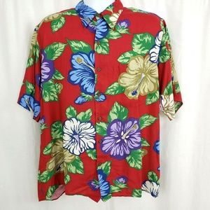 Staters by Reyn Spooner Hawaiian Floral Shirt